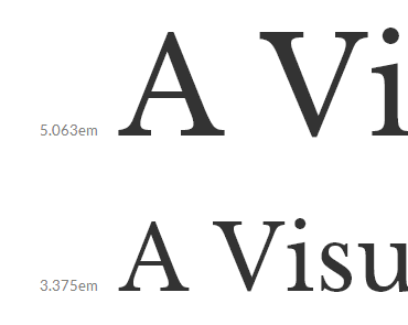 Previewing Type Sizes