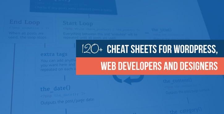 Cheat sheets list