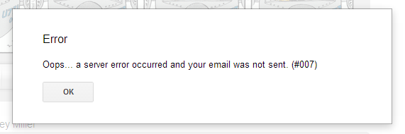 email error